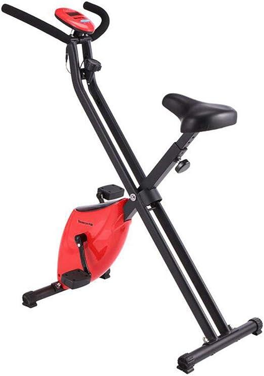 LSYOA Plegable Bicicleta Estática, Magnético Vertical Exercise ...