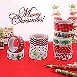 Christmas Washi Tape Set, 10Rolls Merry Christmas Masking Tape Decorative for Xmas Decor Holiday Christmas Party Favors…