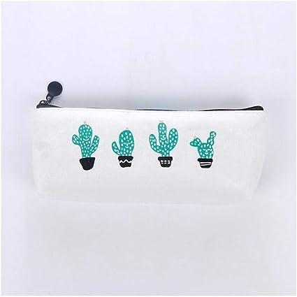 XIAOXINYUAN Cactus Lápiz Estuche Lienzo Escuela Suministros Kawaii Papelería Lápiz De La Escuela Bolígrafo Bolsas Estilo 1: Amazon.es: Oficina y papelería