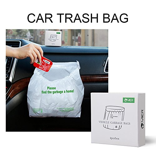 YIER Waterproof Car Trash Bin Leakproof Auto Trash Bag for Family Travel ,16pcs
