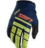 Shift Racing Assault Race Men's MX Motorcycle Gloves - Navy/Yellow/Small