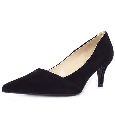 5ace3b928e1 Peter Kaiser Semitara Women s Kitten Heel Pointy Toe Court Shoes in Black  Suede 7 BLACK SUED