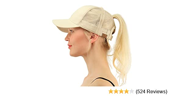 C.C Ponytail Messy Buns Trucker Ponycaps Plain Baseball Visor Cap Dad Hat 94005f07be8e