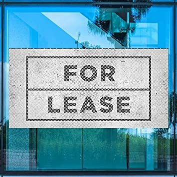 for Lease CGSignLab Basic Gray Perforated Window Decal 96x48 5-Pack