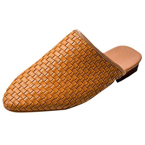 zitan Summer Women's Sandals Retro Buckle-Strap Sandals Flat Bottom Ladies Shoes Flat/Heels Sandals for Girls Sexy Slip-On Rome Style Sandals Khaki