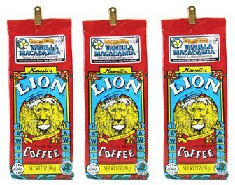 Lion Coffee Vanilla Macadamia X3