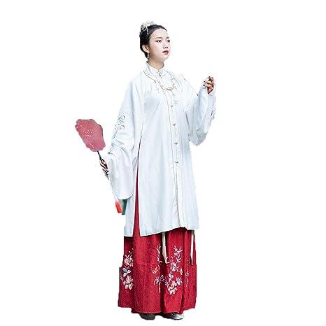 YCWY Traje Chino Antiguo de la Mujer, Exquisito Vestido ...