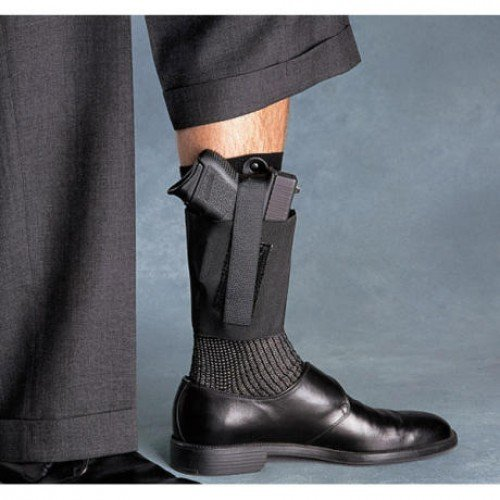 (Galco Cop Ankle Band for Walther PPK, Sig P232, Kahr K9, K40, PM9, PM40, Bersa Thunder .380 (Black, Right-Hand))