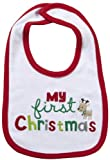 Carter's Unisex Baby Bib - My First Christmas-White-One Size