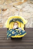 infant car seat cover green - NFL Green Bay Packers The Whole Caboodle 5PC set - Baby Car Seat Canopy with matching accessories
