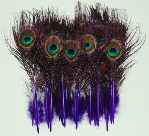25 Pcs MINI PEACOCK 2-9 NATURAL Feathers