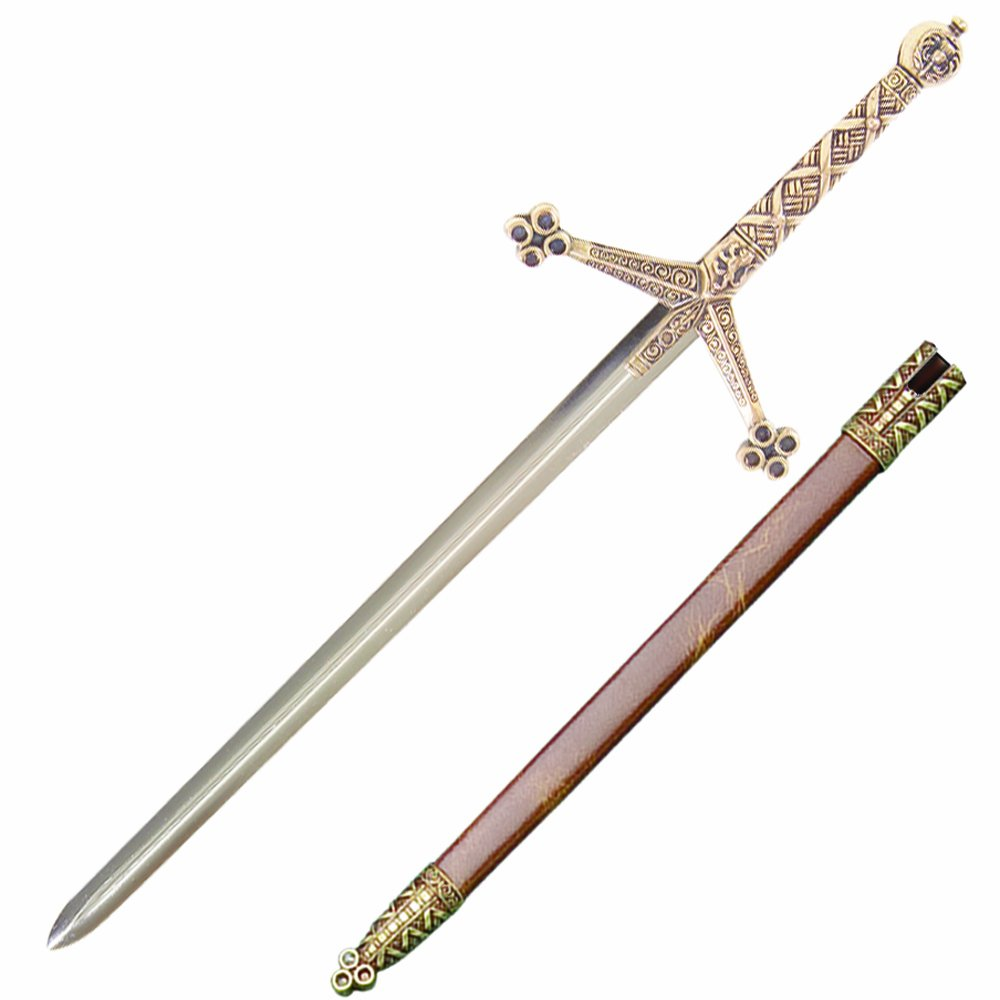 Denix Medieval Claymore Sword Letter Opener with Scabbard