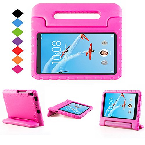 Lenovo TAB 4 8 Plus Case - LTROP Portable Light Weight Shock Proof Convertible Handle Stand Case Cover for Lenovo TAB 4 8 Plus 2017 Tablet (TB-8704F/N), Rose