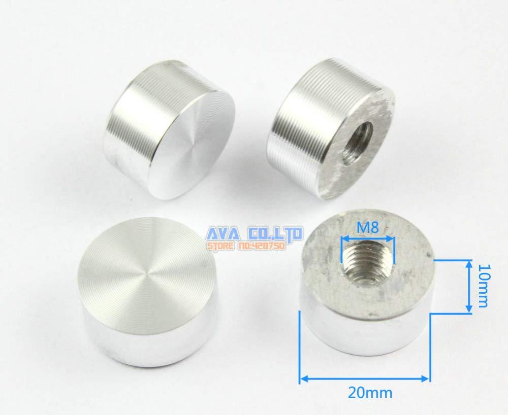 Ochoos 20 Pieces 20 10 M8 Aluminum Disc Glass Table Top Adapter