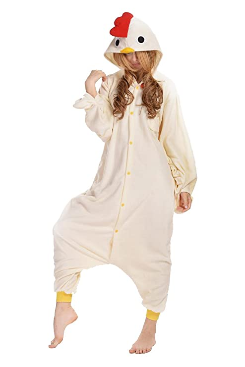Amazon.com: Newcosplay Unisex Chicken Pyjamas Halloween Costume: Clothing