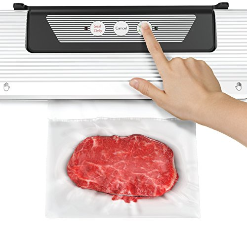 - Easy Press 'N Seal Vacuum Sealer By Cooler Kitchen W/Extra Sealer Bags & Cutter - The Easiest Vacuum Sealer On The Market: Great for Preserving Food, Sous Vide, More!
