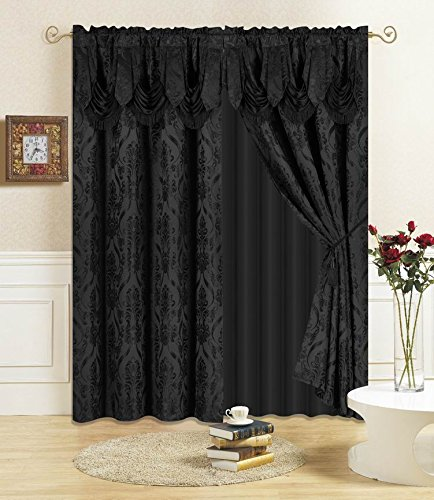 (All American Collection New 4 Piece Drape Set 84