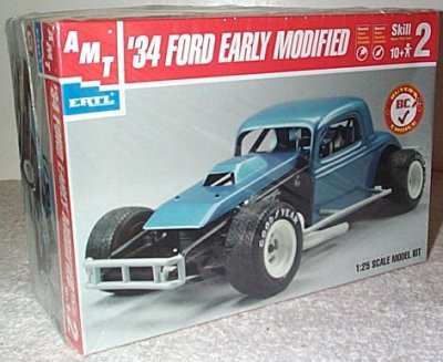 Amazon com: AMT '34 Ford Early Modified Plastic Model Kit: Toys & Games
