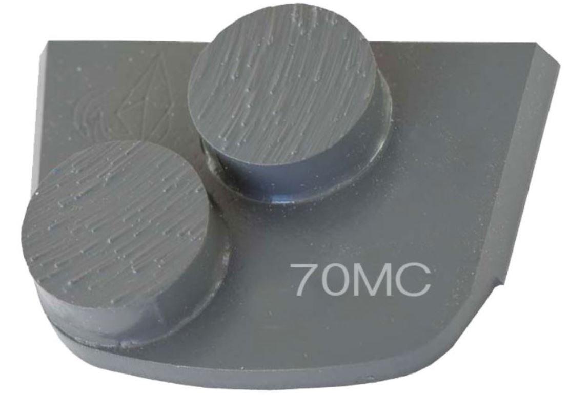 Lavina X2B-MC-0070 Diamond Medium Metal Bond for Medium Concrete 70 Grit Double Button Segment