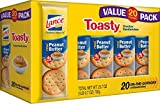 Lance Sandwich Crackers, Toasty Peanut Butter, 1.29 Ounces Each (Pack of 120)