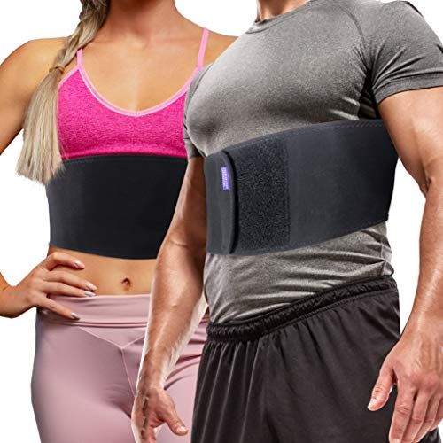 Everyday Medical Broken Rib Brace for Men and Women - Bamboo Charcoal Rib Support Compression Brace - accelerates The Healing of Cracked, Dislocated, Fractured and Post-Surgery Ribs - Small/Medium (Ribcage Support)