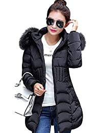 Women's Winter Warm Thickened Coats Long Down Parka Puffer Jacket Outwear