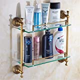 LAONA All copper antique European style carved Bronze Bathroom Fittings, toilet brush rack, toothbrush rack,Rack 2