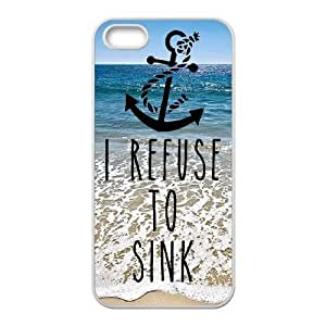 I Refuse to Sink Popular Case for Iphone 5,5S, Hot Sale I Refuse to Sink Case