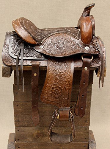 10″ Pony Horse Saddle Kids Cowboy Cowgirl Pleasure Leather Brown Western Saddle