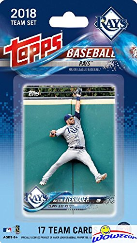 Tampa Bay Set Rays - Tampa Bay Rays 2018 Topps Baseball EXCLUSIVE Special Limited Edition 17 Card Complete Team Set with Chris Archer, Kevin Kiermaier & Many More Stars & Rookies! Shipped in Bubble Mailer! WOWZZER!