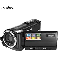Andoer HDV-107 Digital Video Camcorder Camera HD 720P 16MP DVR 2.7 TFT LCD Screen 16x ZOOM
