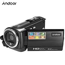 Andoer HDV-107 Digital Video Camcorder Camera HD 720P 16MP DVR 2.7'' TFT LCD Screen 16x ZOOM