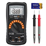 Tacklife DM02A Classic Digital Multimeter 2000 Counts Auto-Ranging Non Contact Voltage Multi Meter with LCD Backlight Volt Amp Ohm Diode and Continuity Test