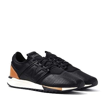 new balance Men s 247 Black Leather Sneakers - 10 UK India (44.5 EU ... f9f22f7c33