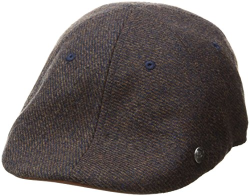 Perry Ellis Men's Wool Twill 6 Panel Driver, Brown, One Size