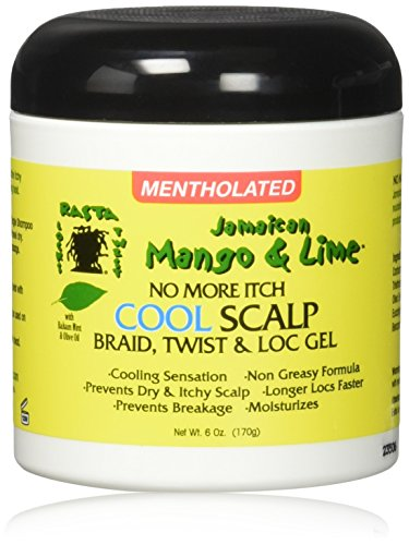 Jamaican Mango & Lime No More Itch Cool Scalp Braid Twist & Lock Gel, 6 ()