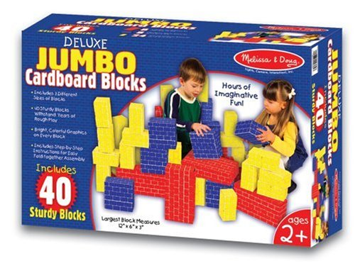 Best Melissa & Doug Jumbo Extra-Thick Cardboard Building Blocks For Kids