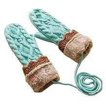 Outdoor Soft Knit Thick Gloves Halter Winter Gloves Keep Warm Mittens