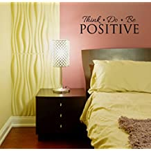 Wall Décor Plus More WDPM3400 Think Do Be Positive Inspirational Wall Decal Quote Vinyl Sticker for Home Office or Gym Decor, 23-Inchx7-Inch, Black