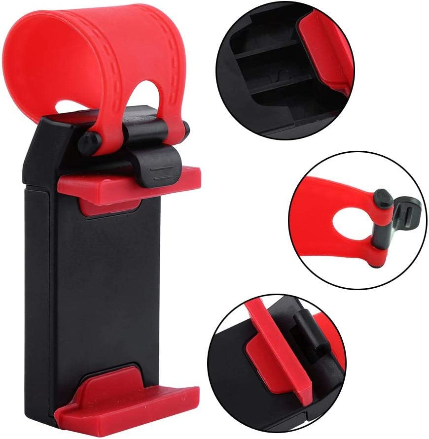 Rubber Car Steering Wheel Mount Protect Your Phone from Scratching or Gash Stability Suitable for The Phone Screen Below 5.5 inch Oumij Cell Phone Standsafe ABS