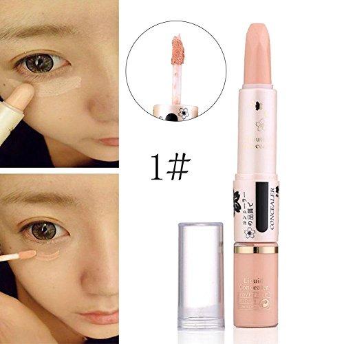 Beige Concealer Pen (Concealer Pen Stick Cream Face Lip Eye Foundation Spot Blemish Natural Makeup Professional Dark Eye Hide Blemish Face 1#)