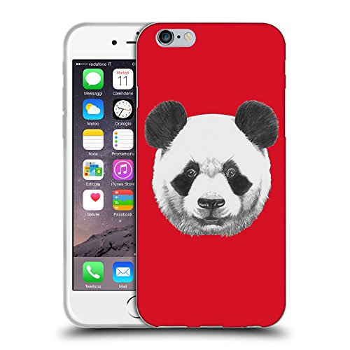GoGoMobile Coque de Protection TPU Silicone Case pour // Q05300624 Panda Cadmium Rouge // Apple iPhone 7