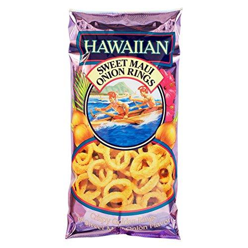 Hawaiian, Sweet Maui Onion Rings, Crispy Golden Rings, 4oz Bag (Pack of 3) by Hawaiian