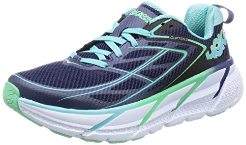 Hoka One One Clifton 3 Running Shoes - Women's Medieval Blue/Spring Bud 6