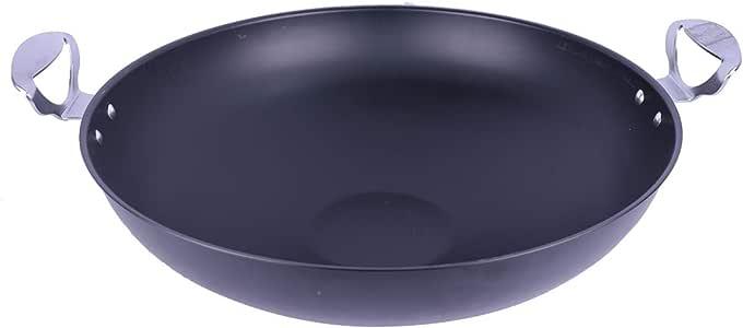 مقلاة تيفال واسعة من بن شيهون علوم - أسود، 43 × 12