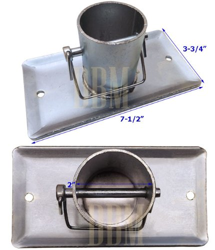 A Frame Galvanized Jack Foot Plate Pin 5k Trailer Marine Boat 5,000 LBS 2'' Tube by Generic (Image #2)
