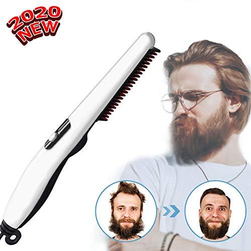 Beard Straightener Comb,Quick Electric Heated Beard Brush Beard Styler for Men, Travel Portable Styling Comb beard iron, Multifunctional Hair Straightening Brush