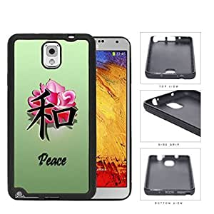 Peace Oriental Symbol With Rose Flower Silicone Cell Phone Case Samsung Galaxy Note 3 III N9000 N9002 N9005