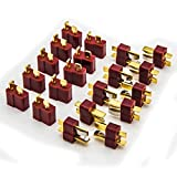 deans rc battery connectors - Allytech 10 Pair T Plug Connectors Deans Style Male and Female Connectors For RC LiPo Battery (20-Pack)