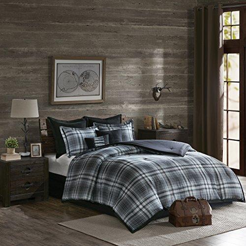 Woolrich WR10-1893 Bernard Comforter Set Cal King Grey,Cal (California King Plaid Comforter)